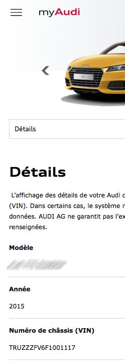 myAudi Audi TT Mk3